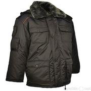 Куртка всесезонная удлиненная для сотрудников полиции иссиня-черная тк