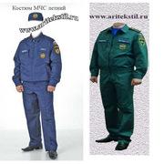 форменная одежда костюм сотрудников мчс летняя мужская женская