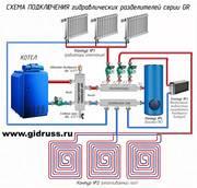 Гидрострелки для котлов Buderus,  BAXI,  Protherm от производителя