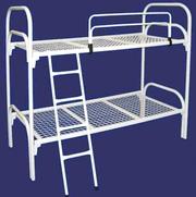 Двухярусные кровати с лестницами эконом для детских лагерей и интернат