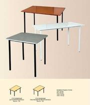 Столы обеденные в столовые,  Стол на металлокаркасе для закусочных